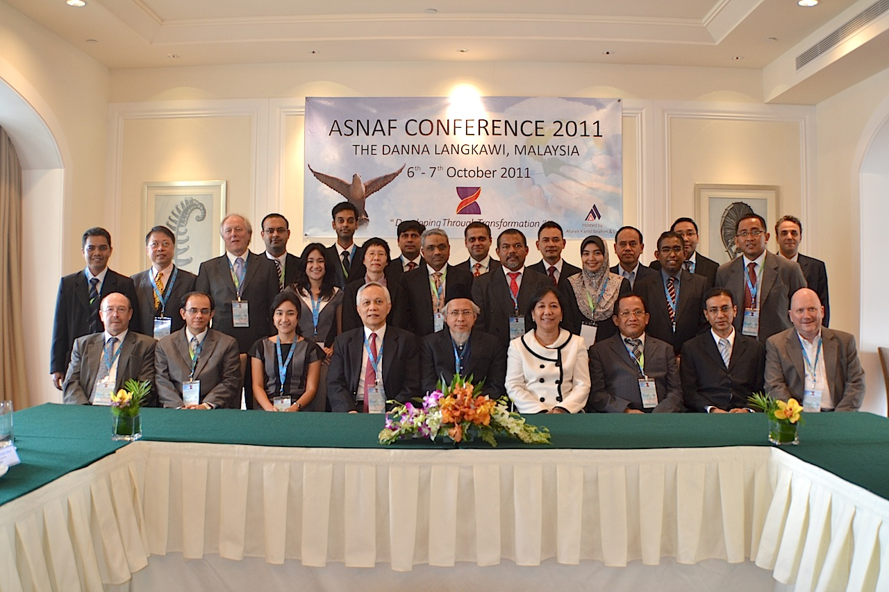 Delegates at the ASNAF Conference with guest speakers.